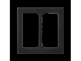 Pripojovací kryt K45 do konektora GESIS® dvojitý 45×45mm grafitovo-sivá