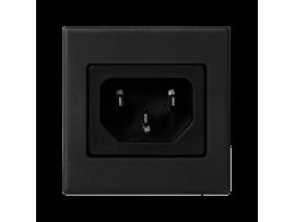 Pripojovací kryt K45 so zásuvkou samec IEC320 250V (C14) 45×45mm grafitovo-sivá