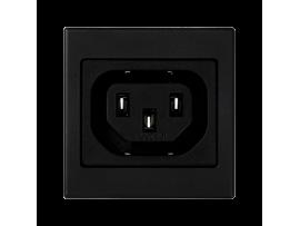 Pripojovací kryt K45 so zásuvkou samica IEC320 250V (C13) 45×45mm grafitovo-sivá
