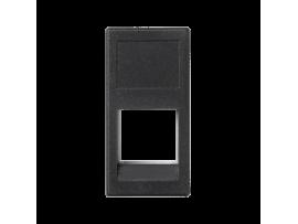 Kryt dátovej zásuvky K45 3M Volition OCK jednotlivý bez krytu plocha 45×22,5mm grafitovo-sivá
