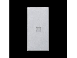 Kláves K45 s podsvietením farba: biela 45×22,5mm hliník