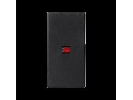 Kláves K45 s podsvietením farba: červený 45×22,5mm grafitovo-sivá