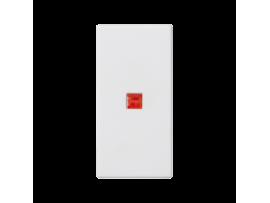 Kláves K45 s podsvietením farba: červený 45×22,5mm čisto biela