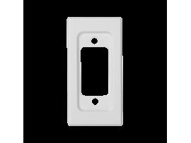 Kryt K45 prázdna pre spojky VGA (D-SUB 15) 45×22,5mm čisto biela