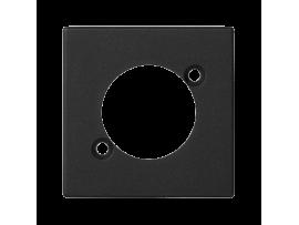 Kryt K45 prázdna pre spojky XLR 45×45mm grafitovo-sivá