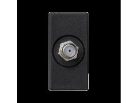 Kryt K45 zásuvka SAT (F) - zdierka 45×22,5mm grafitovo-sivá