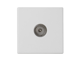 Kryt K45 zásuvka TV - kolík 45×45mm čisto biela