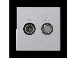 Anténna zásuvka K45 TV-SAT frekvencia:5MHz2400MHz 45×45mm hliník