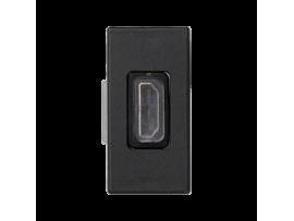 Kryt K45 adaptér HDMI-HDMI 45×22,5mm grafitovo-sivá