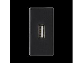 Kryt K45 spojka USB typ A 45×22,5mm grafitovo-sivá