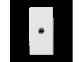 Kryt K45 zásuvka mini-jack 45×22,5mm čisto biela