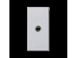 Kryt K45 zásuvka mini-jack 45×22,5mm hliník