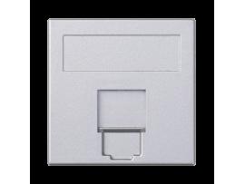 Kryt dátovej zásuvky SIMON 500 keystone jednotlivý plocha univerzálny s krytom 50×50mm hliník