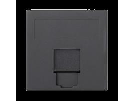 Kryt dátovej zásuvky SIMON 500 INFRA+ jednotlivý plocha s krytom 50×50mm grafitovo-sivá