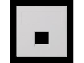 Kryt dátovej zásuvky SIMON 500 keystone jednotlivý bez krytu plocha univerzálny 50×50mm čisto biela