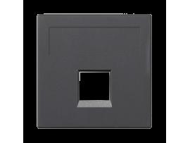 Kryt dátovej zásuvky SIMON 500 keystone jednotlivý bez krytu plocha univerzálny 50×50mm grafitovo-sivá