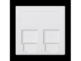 Kryt dátovej zásuvky SIMON 500 BELGENCDT dvojitý plocha s krytama 50×50mm čisto biela