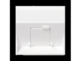 Kryt dátovej zásuvky SIMON 500 pre adaptéry MD jednotlivý šikmá s krytom 50×50mm čisto biela