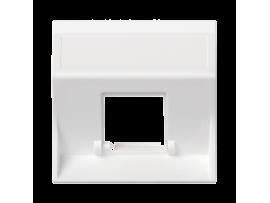 Kryt dátovej zásuvky SIMON 500 pre adaptéry MD jednotlivý bez krytu šikmá 50×50mm čisto biela