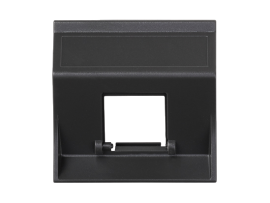 Kryt dátovej zásuvky SIMON 500 pre adaptéry MD jednotlivý bez krytu šikmá 50×50mm grafitovo-sivá