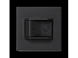 Istič K45 charakteristika C 10A 250V 45×45mm grafitovo-sivá