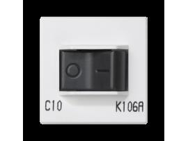Istič K45 charakteristika C 10A 250V 45×45mm čisto biela