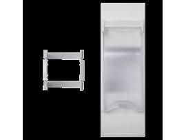 Kryt s vekom K45 pre OFIBLOK, ALK, CABLOPLUS, CABLOMAX pre 2pólové zariadenia 135×45mm čisto biela