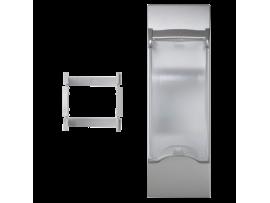 Kryt s vekom K45 pre OFIBLOK, ALK, CABLOPLUS, CABLOMAX pre 2pólové zariadenia 135×45mm hliník
