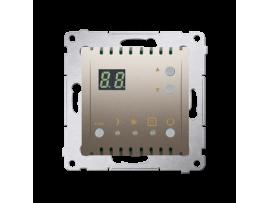 Termostat s displejom (vnútorný senzor) zlatá matná