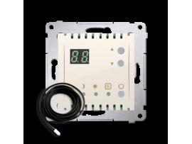 Termostat s displejom s vonkajším senzorom (sondou) krémová