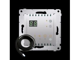 Termostat s displejom s vonkajším senzorom (sondou) strieborná matná