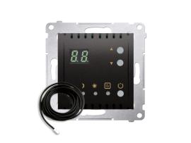 Termostat s displejom s vonkajším senzorom (sondou) antracitová