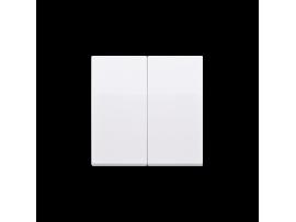 Kryt dvojitý pre spínače a tlačidlá biela
