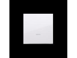 Kryt jednoduchý priezorom pre spínače a tlačidlá s orientačným podsvietením biela