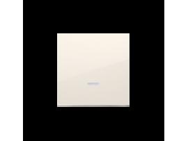 Kryt jednoduchý priezorom pre spínače a tlačidlá s orientačným podsvietením krémová
