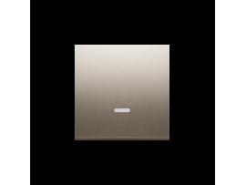 Kryt jednoduchý priezorom pre spínače a tlačidlá s orientačným podsvietením zlatá matná