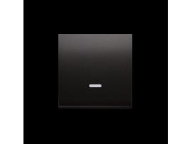Kryt jednoduchý priezorom pre spínače a tlačidlá s orientačným podsvietením antracitová