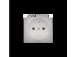 Kryt zásuvky s uzemnením - pre verziu IP44 - klapka priehľadnej farby krémová