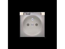 Kryt zásuvky s uzemnením - pre verziu IP44 - klapka priehľadnej farby zlatá matná