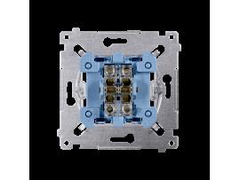 Tlačidlo dvojité spínacie, radenie č. 1/0+1/0 (prístroj) 10AX 250V, pružinové svorky, netýka sa