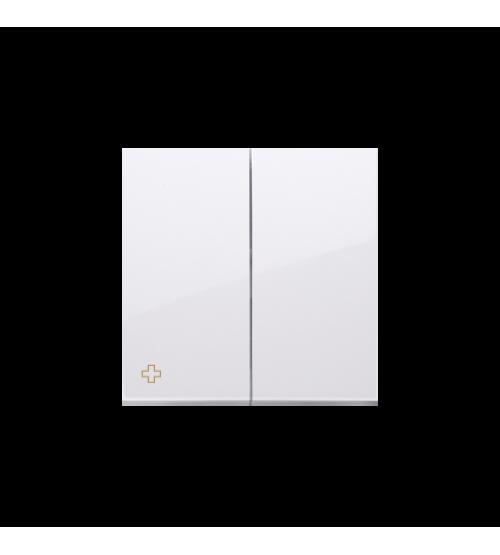Kryt dvojitý pre prístroje: SW7/2XM, SW9P1M antibakteriálna biela