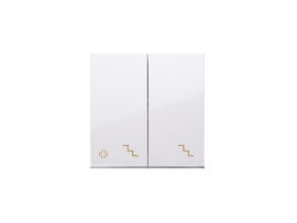 Kryt dvojitý pre dvojitý striedavý prepínač SW6/2M antibakteriálna biela