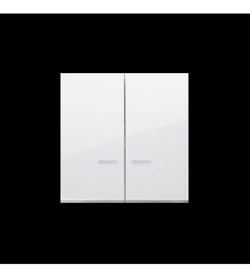 Kryt dvojitý s priezorom pre prístroje: SW6/2XLM, SW/2XM, SW6P1M biela