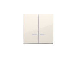 Kryt dvojitý s priezorom pre prístroje: SW6/2XLM, SW/2XM, SW6P1M krémová