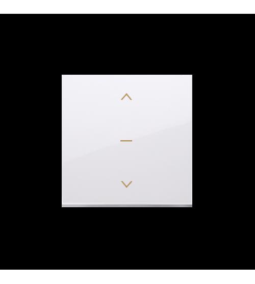 Kryt žalúziového jednoduchého trojpolohového spínača 1-0-2 biela