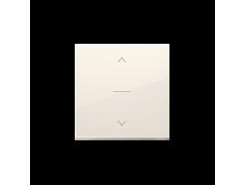 Kryt žalúziového jednoduchého trojpolohového spínača 1-0-2 krémová
