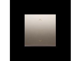 Kryt žalúziového jednoduchého trojpolohového spínača 1-0-2 zlatá matná