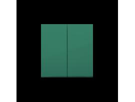 Kryt dvojitý pre spínače a tlačidlá zelený