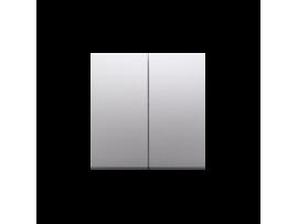 Kryt dvojitý pre dvojitý striedavý prepínač SW6/2M strieborná matná