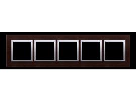 Rámček 5 - krát drevený Wenge/striebro